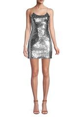 Alice + Olivia Giselle Sequin Mini Dress