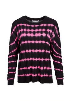 Alice + Olivia Gleeson Boxy Cashmere-Blend Pullover Sweater
