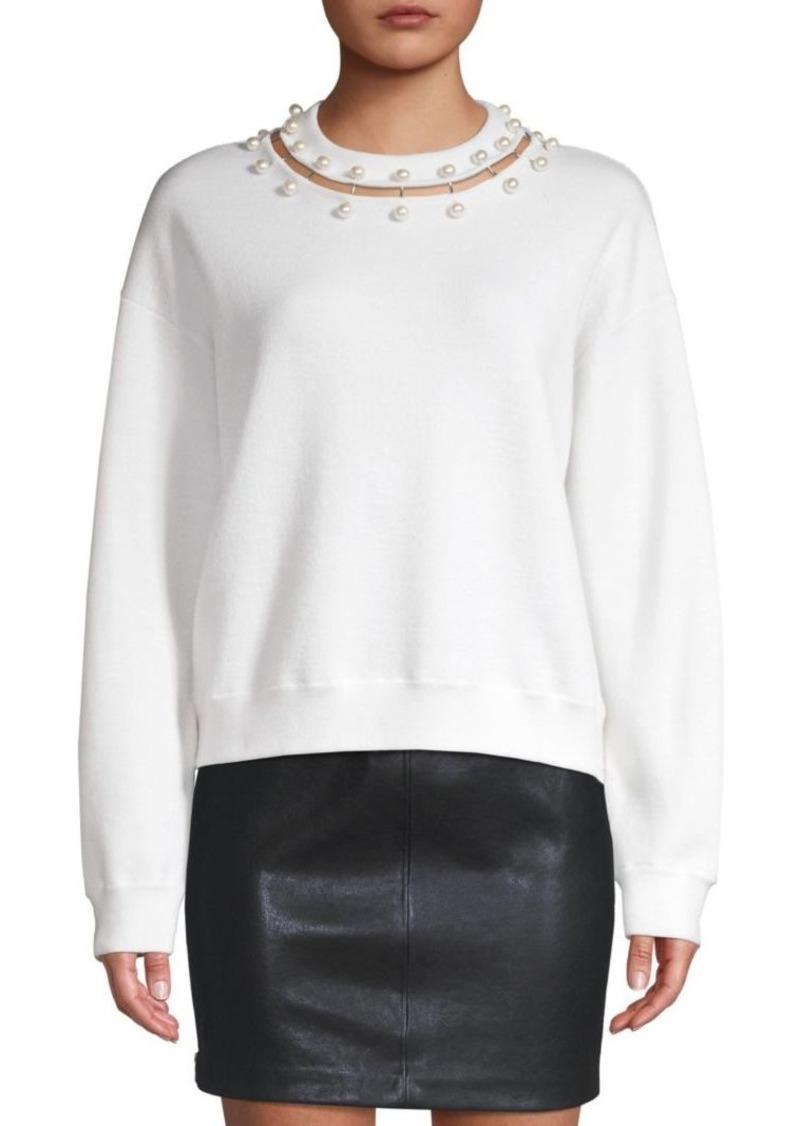 Alice + Olivia Gleeson Embellished Wool Sweater