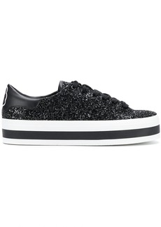 Alice + Olivia glittered sneakers