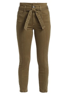 Alice + Olivia Good Belted High-Rise Skinny Pants