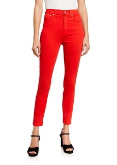 Alice + Olivia Good High-Rise Ankle Skinny Jeans