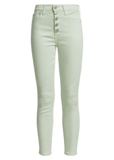 Alice + Olivia Good High-Rise Button-Fly Skinny Jeans