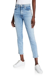 Alice + Olivia Good High-Rise Cropped Ankle Skinny Jeans