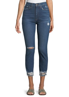 Alice + Olivia Good High-Rise Destroyed Skinny Jeans
