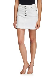 Alice + Olivia Good High-Rise Exposed Button Short Skirt