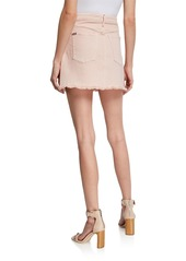 Alice + Olivia Good High-Rise Exposed Button Skirt