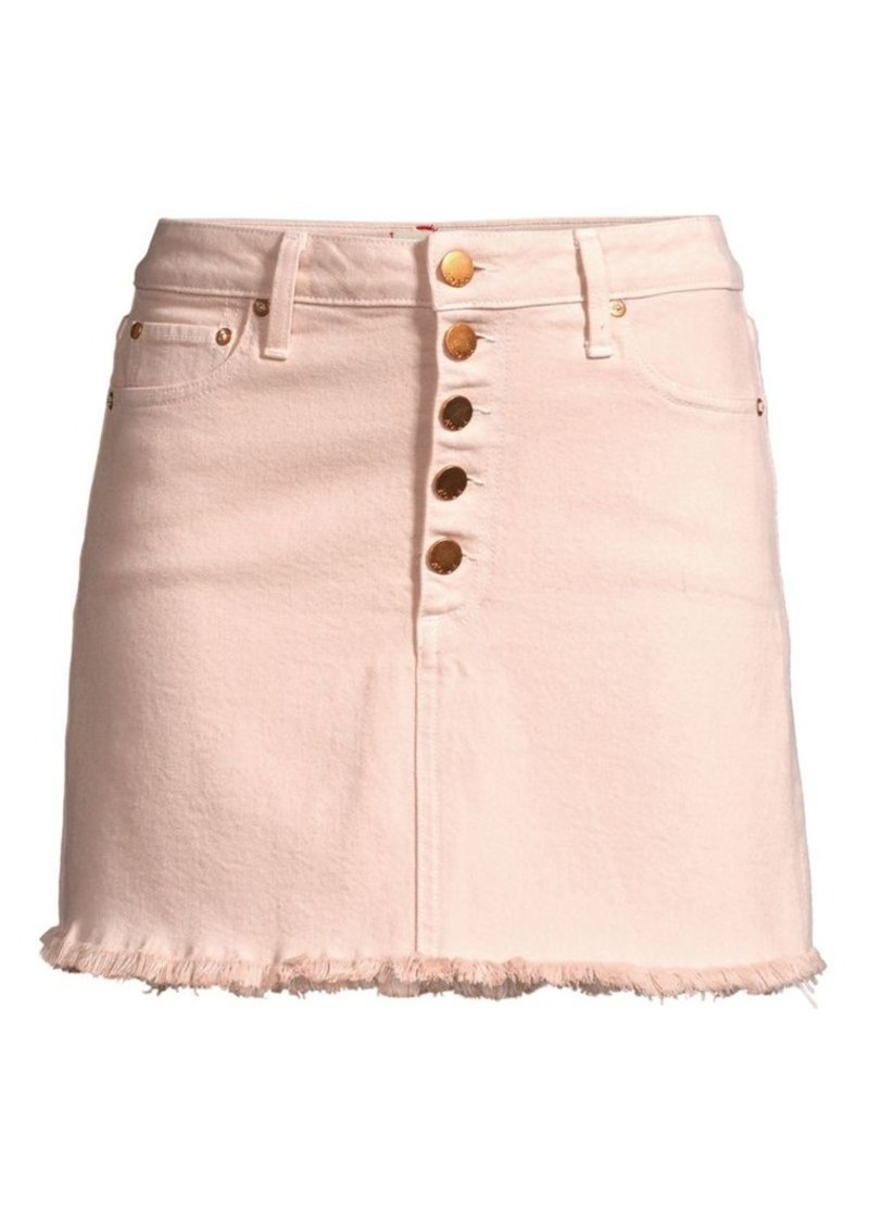 Alice + Olivia Good High-Rise Jean Skirt