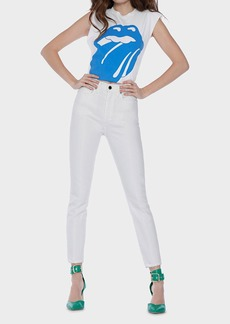Alice + Olivia Good High Rise Pintuck Crop Skinny Jeans