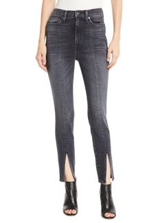 Alice + Olivia Good High-Rise Skinny Jeans with Front Slit