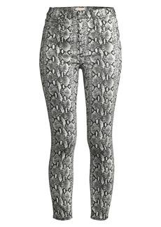 Alice + Olivia Good High-Rise Skinny Python Print Jeans
