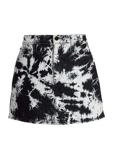 Alice + Olivia Good High-Rise Tie-Dye Mini Skirt