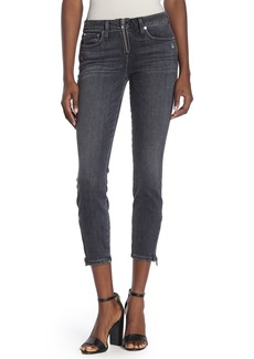 Alice + Olivia Good Low Rise Exposed Zip Jeans
