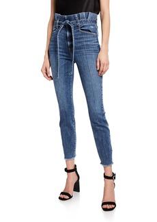 Alice + Olivia Good Paperbag Waist Skinny Jeans