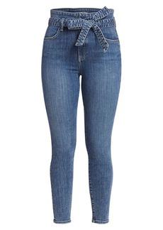 Alice + Olivia Good Wrap Waist High-Rise Skinny Jeans