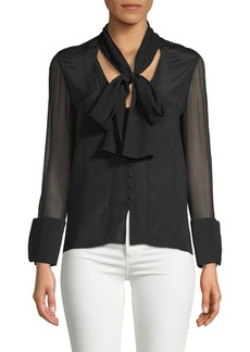 Alice + Olivia Gwenda Paneled Silk Tunic