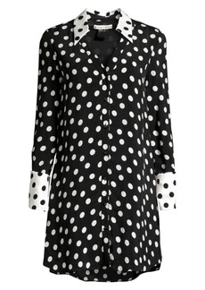 Alice + Olivia Halima Polka Dot Dress