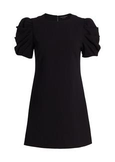 Alice + Olivia Hanita Puff-Sleeve Mini Dress