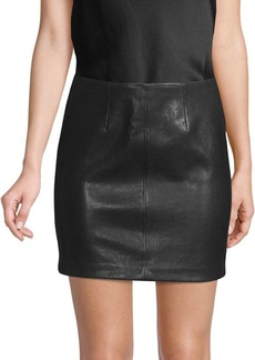 Alice + Olivia Hannon Leather Mini Skirt
