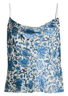 Alice + Olivia Harmon Floral Silk-Blend Camisole