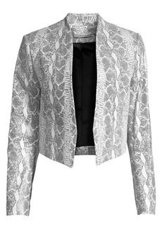 Alice + Olivia Harvey Mesh Leather Jacket