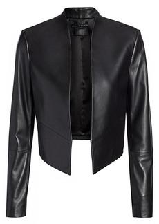 Alice + Olivia Harvey Open Leather Jacket