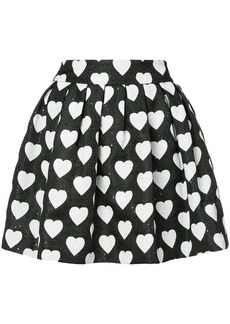 Alice + Olivia hearts print pleated skirt