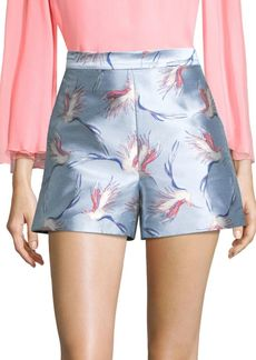 Alice + Olivia Heath Printed Shorts