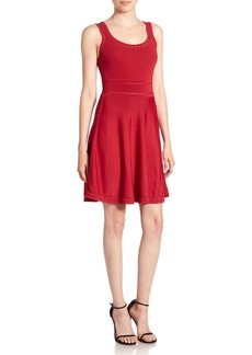 Alice + Olivia Heather Scoop Neck Fit & Flare Dress