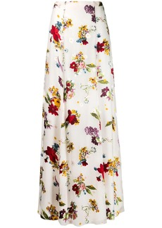 Alice + Olivia high-waist floral skirt