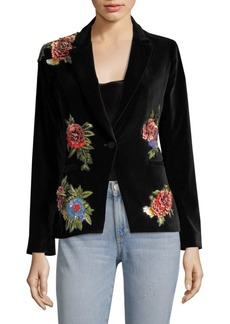 Alice + Olivia Hix Floral Fitted Blazer