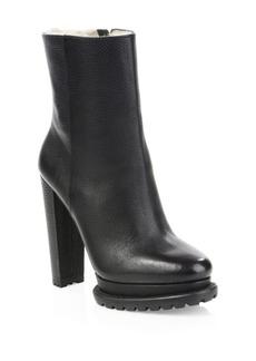 Alice + Olivia Holden Shearling-Lined Platform Boots