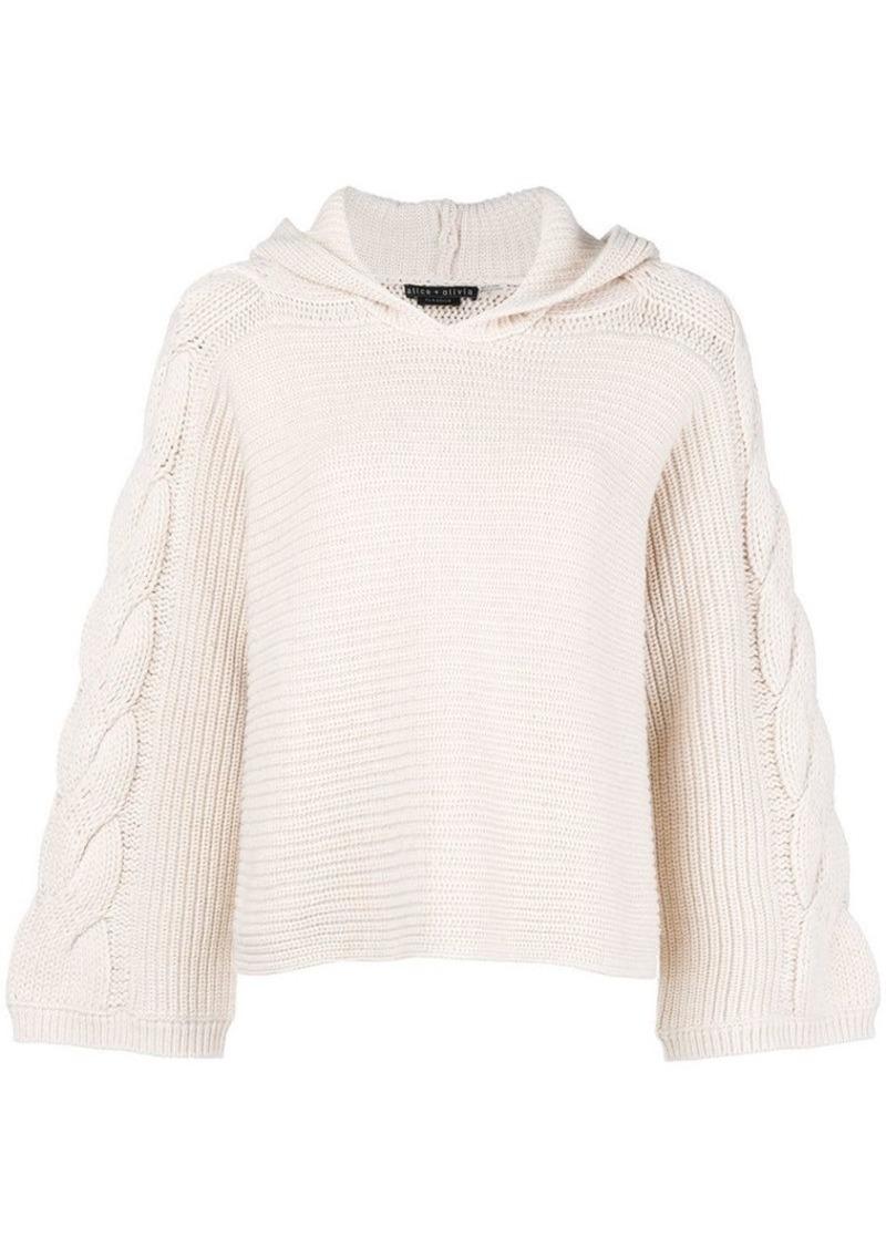 Alice + Olivia hooded sweater