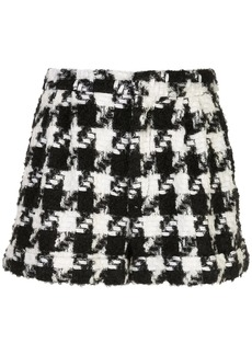 Alice + Olivia houndstooth pattern shorts