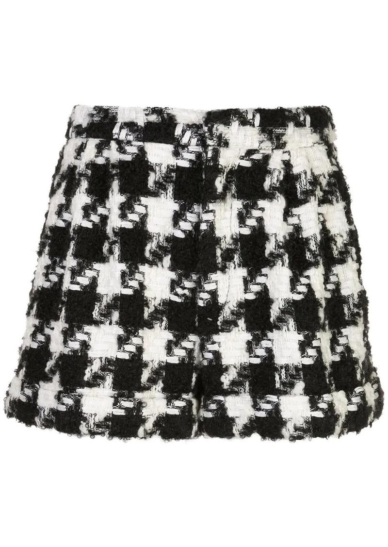 Alice + Olivia houndstooth pattern shorts