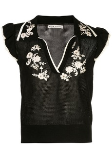 Alice + Olivia Igby Ember ruffle collared sweater