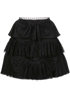 Alice + Olivia Iggy tiered mini skirt