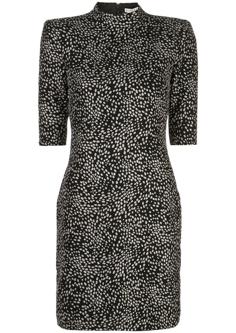 Alice + Olivia Inka abstract-print dress