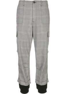 Alice + Olivia Isaac checked cargo trousers