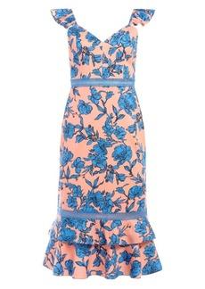 Alice + Olivia Jade Floral Ruffle Sheath Dress