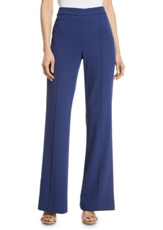 Alice + Olivia Jalisa High-Rise Fitted Flared Pants