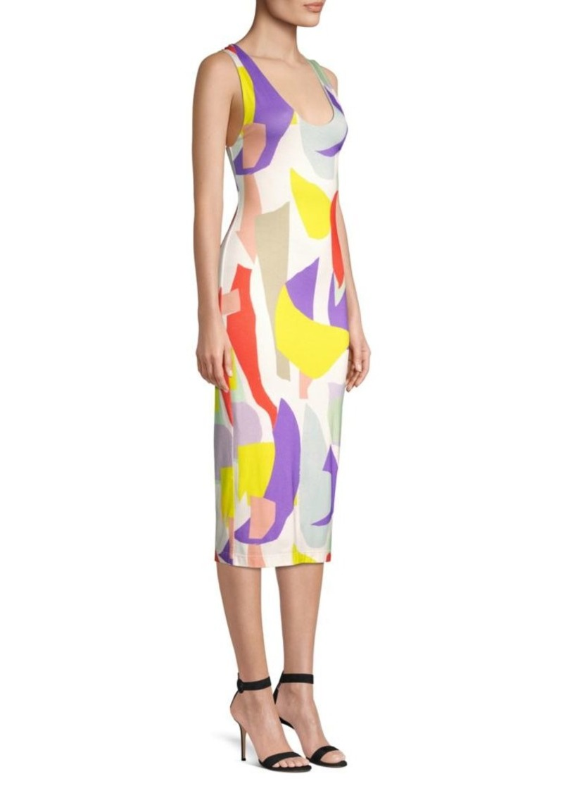 Alice + Olivia James Fitted Scoopneck Dress