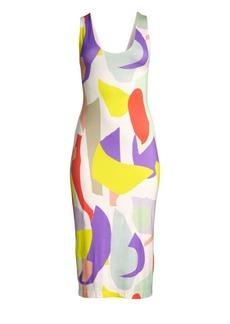 Alice + Olivia James Fitted Scoopneck Dress
