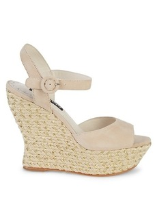 Alice + Olivia Jana Suede Wedges