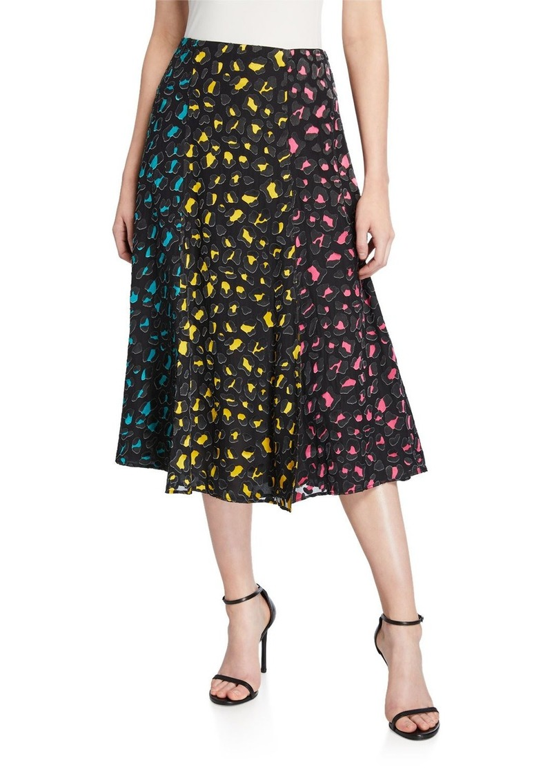 Alice + Olivia Janessa Combo High-Slit Skirt