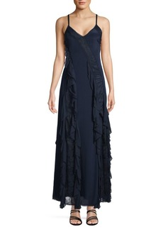 Alice + Olivia Jayda Godet Maxi Dress