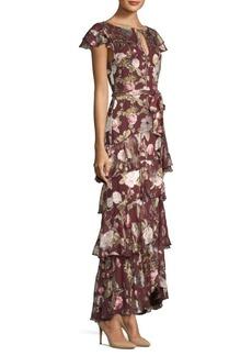 Alice + Olivia Jenny Flutter Sleeve Ruffle Dress
