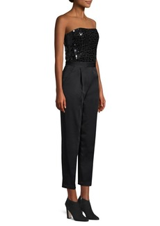 Alice + Olivia Jeri Sequin Embellished Jumpsuit