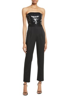 Alice + Olivia Jeri Embellished Straight-Leg Jumpsuit