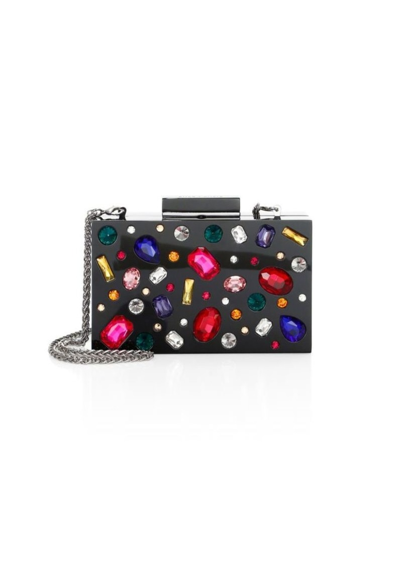 Jeweled Lucite Clutch